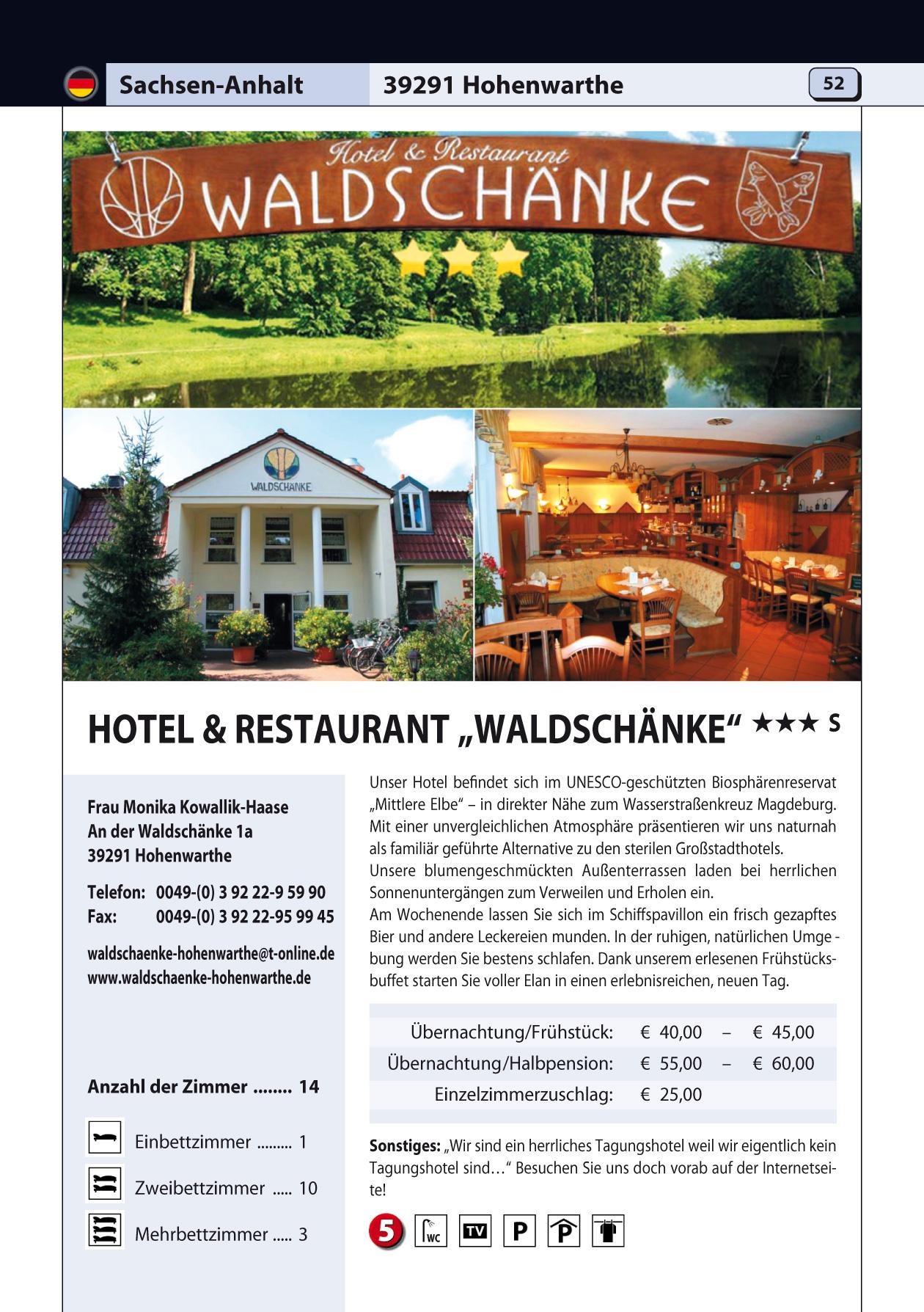 """Bike & Home 2016 · Hotel & Restaurant """"Waldschänke"""" *** S · An der ..."""